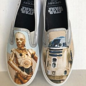 Sperry Star Wars Slip On Shoes Size 5 R2D2 CP30